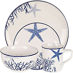 Everyday White® by Fitz and Floyd® Coastal Starfish & Coral Dinnerware Collection