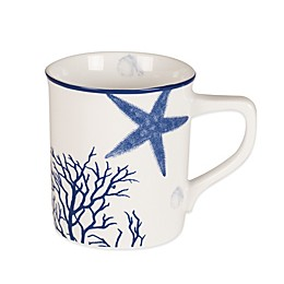 Everyday White®  by Fitz and Floyd® Coastal Starfish & Coral Mug