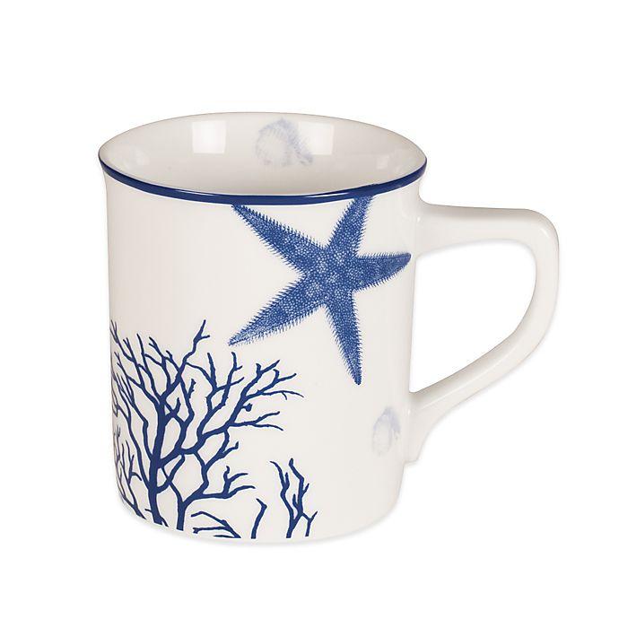 Alternate image 1 for Everyday White®  by Fitz and Floyd® Coastal Starfish & Coral Mug