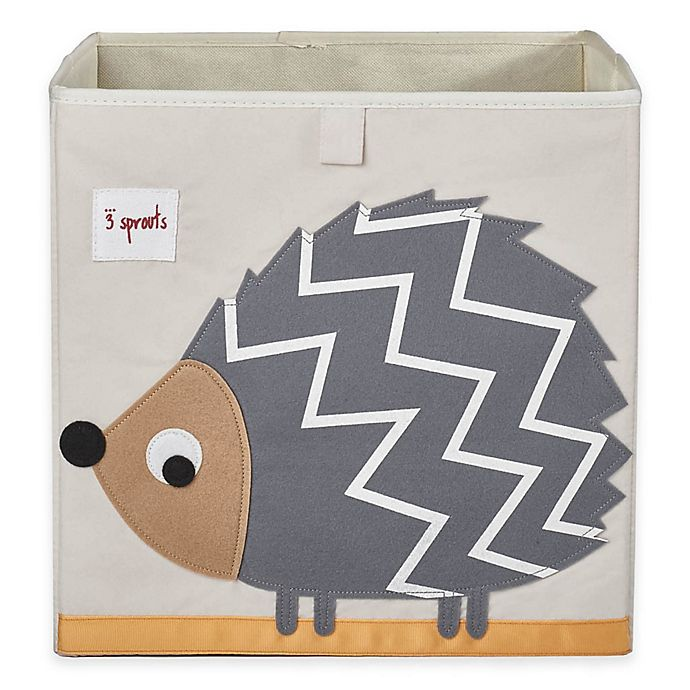 Alternate image 1 for 3 Sprouts Hedgehog Storage Box in Grey