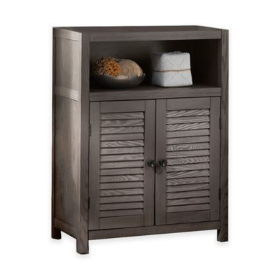 Drift Single-Shelf Wood Floor Cabinet | Bed Bath & Beyond