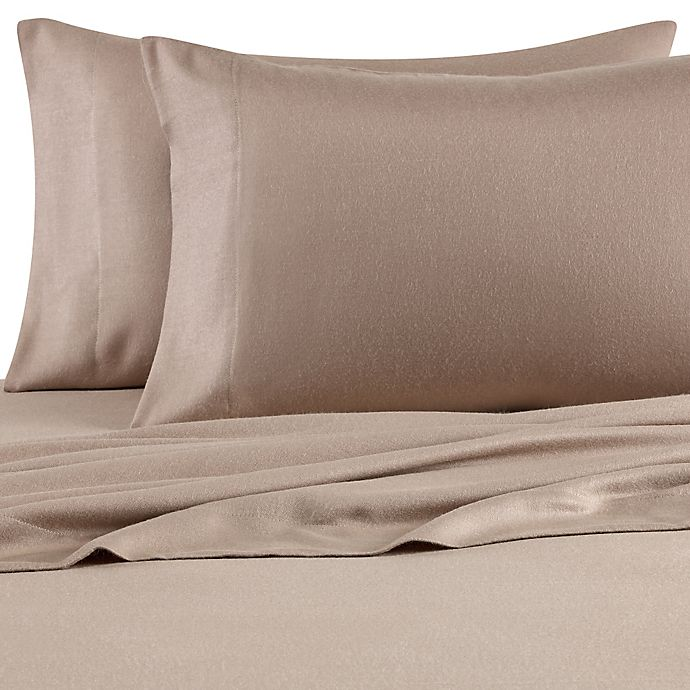 Alternate image 1 for Pure Beech® 100% Modal Flannel Standard Pillowcase Pair in Mink