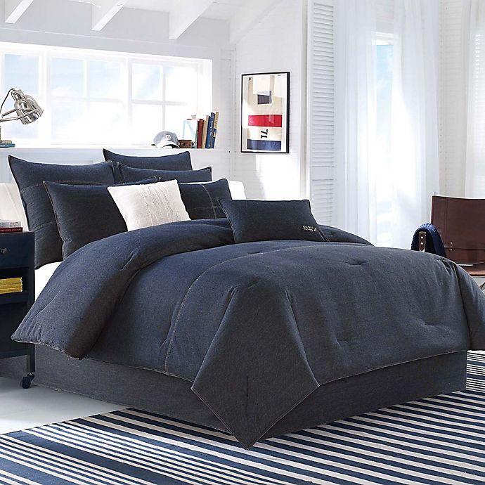 Alternate image 1 for Nautica® Seaward Comforter Set in Denim Blue