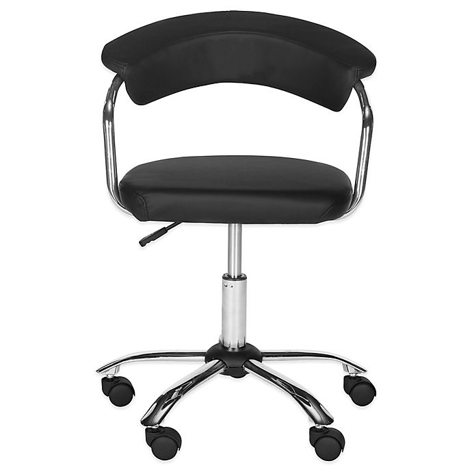Alternate image 1 for Safavieh Pier Synthetic Leather Desk Chair in Black