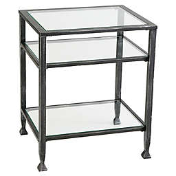 Southern Enterprises Metal End Table in Black