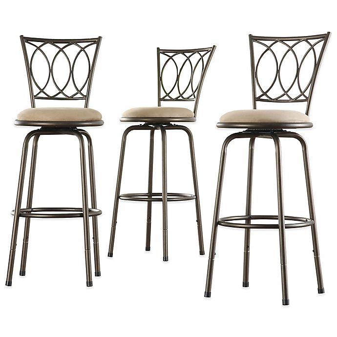 Incredible Inspire Qfreemont Adjustable Swivel Bar Stool Set Of 3 Uwap Interior Chair Design Uwaporg