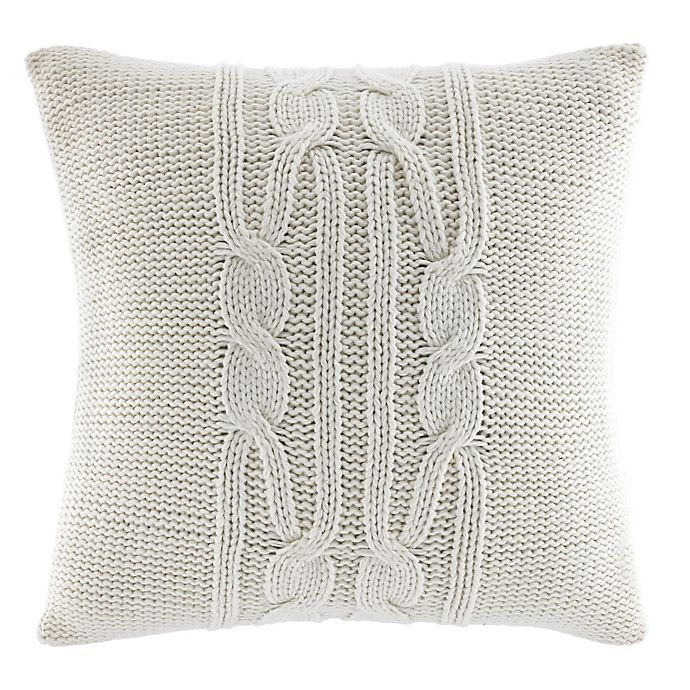 Alternate image 1 for Nautica® Seaward Square Throw Pillow in Ivory