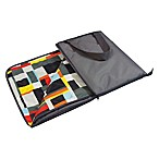 Picnic Time® Vista Outdoor Picnic Blanket in Grey with Geometric Print