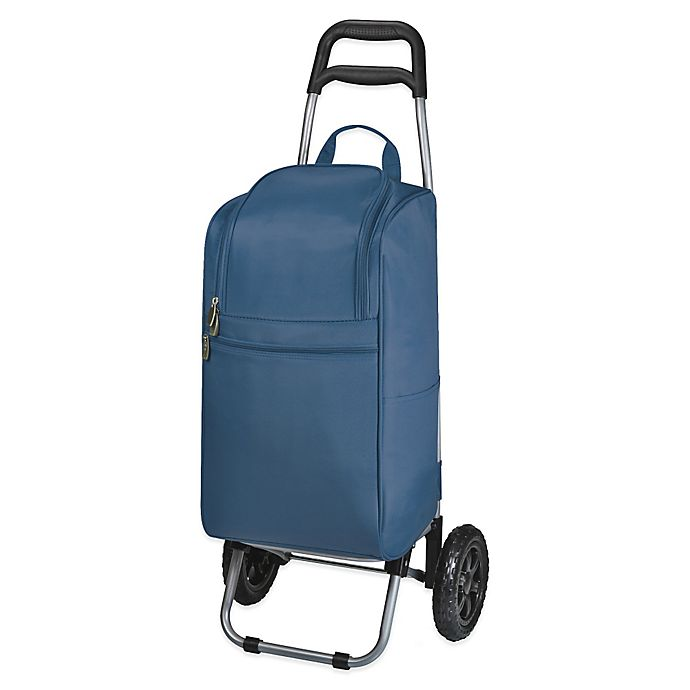 Alternate image 1 for Picnic Time® Cart Cooler with Trolley in Navy