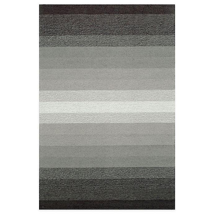 Alternate image 1 for Trans-Ocean Ravella Ombre 3-Foot 6-Inch x 5-Foot 6-Inch Indoor/Outdoor Area Rug in Grey