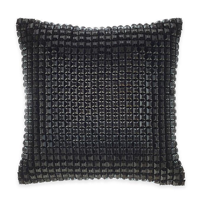 Alternate image 1 for Catherine Malandrino Optic Blanca Square Throw Pillow in Black