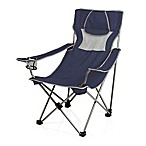 Picnic Time® Campsite Camping Chair in Navy/Grey