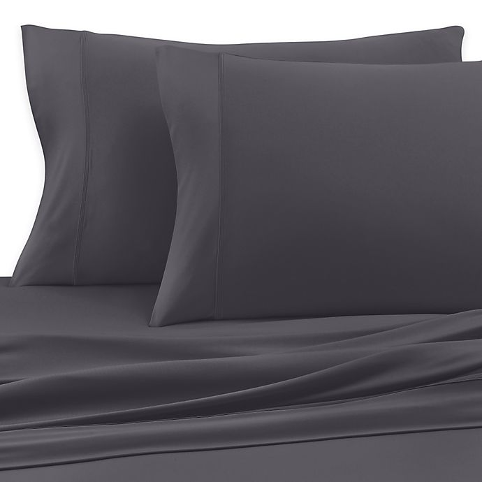 Alternate image 1 for SHEEX® Active Comfort Standard Pillowcases in Charcoal (Set of 2)