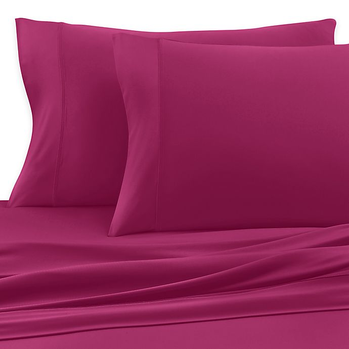 Alternate image 1 for SHEEX® Active Comfort King Pillowcases in Magenta (Set of 2)