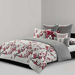 N Natori® Cherry Blossom Reversible King Comforter Mini Set