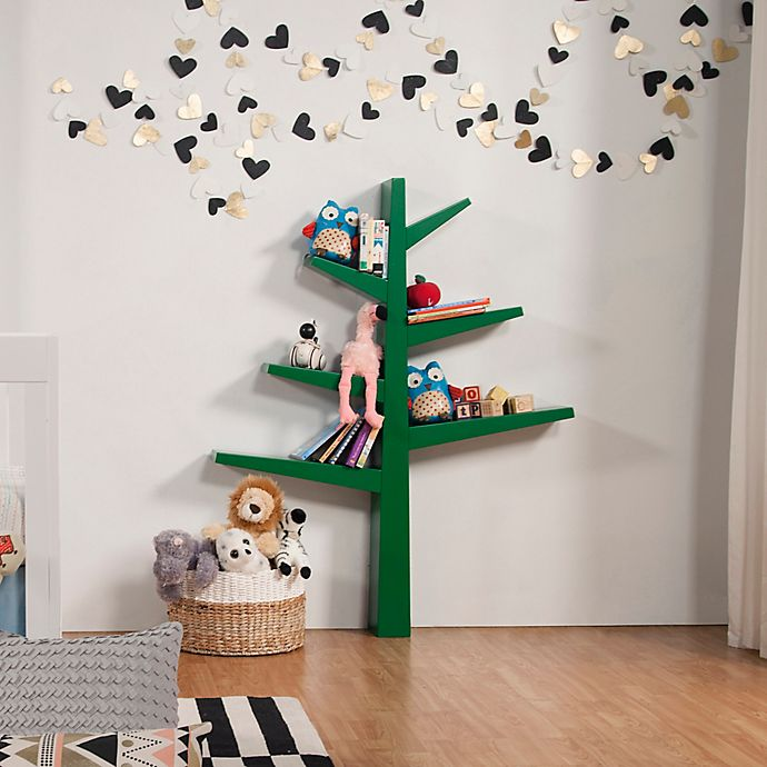 Alternate image 1 for Babyletto Spruce Tree Bookcase in Green
