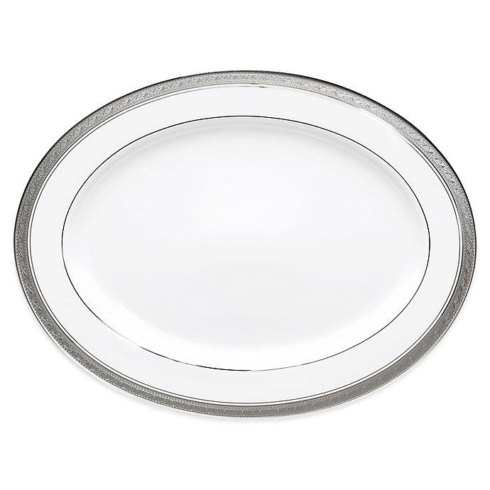 Alternate image 1 for Noritake® Crestwood Platinum 14-Inch Oval Platter