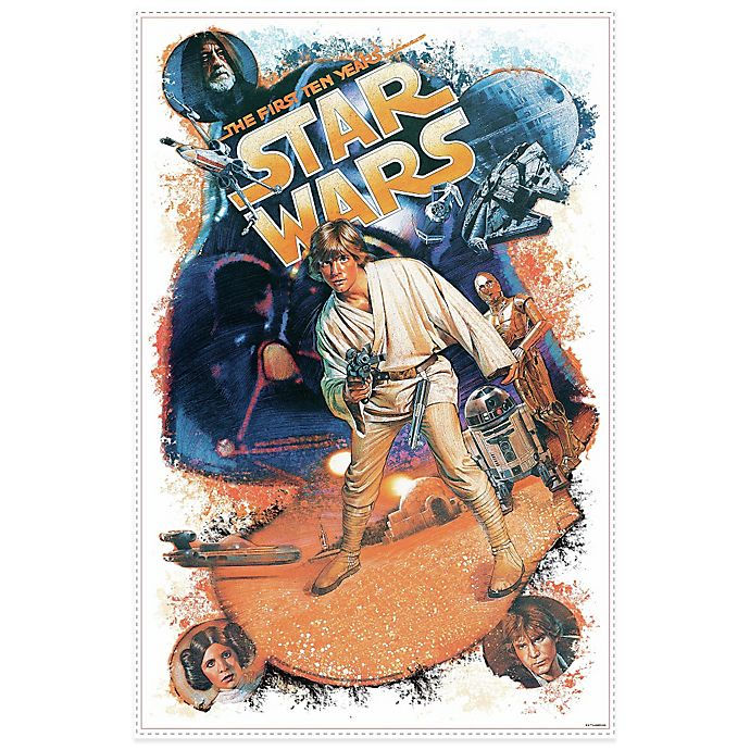 Alternate image 1 for Star Wars Retro Mega Peel and Stick Giant Wall Decals