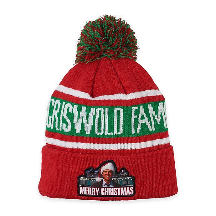 alternate image 1 for griswold family christmas pom pom beanie