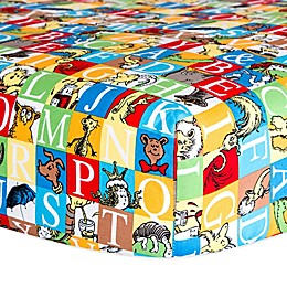 Dr. Seuss™ by Trend Lab® Alphabet Seuss Squares Fitted Crib Sheet