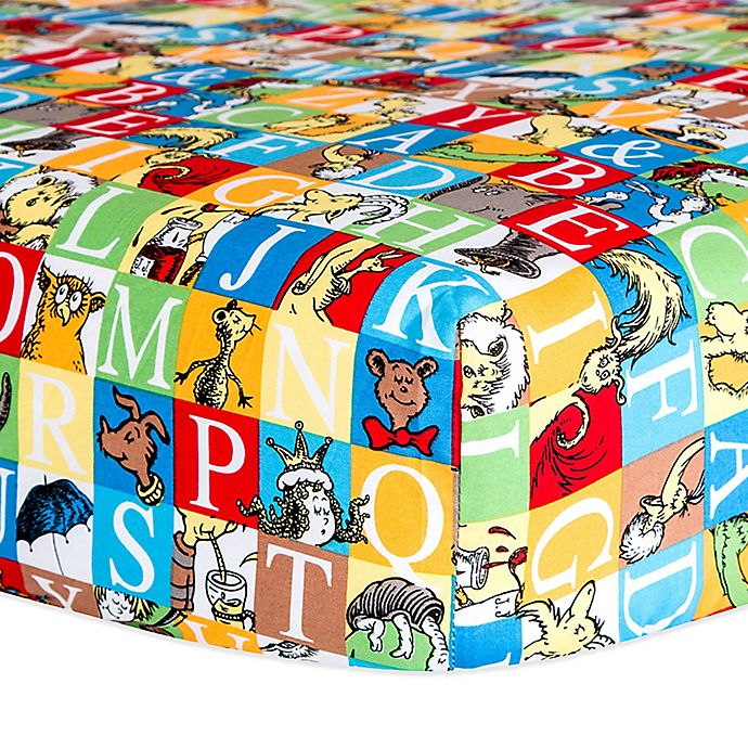 Alternate image 1 for Dr. Seuss™ by Trend Lab® Alphabet Seuss Squares Fitted Crib Sheet