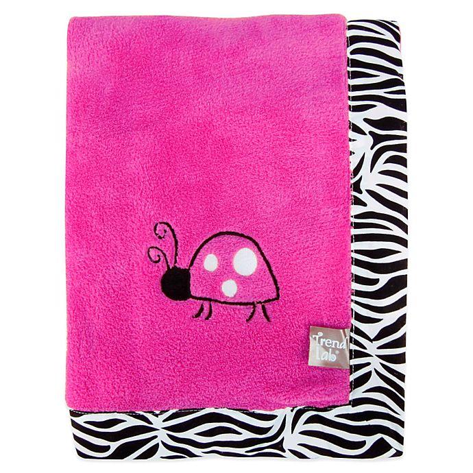 Alternate image 1 for Trend Lab® Zahara Coral Fleece Receiving Blanket
