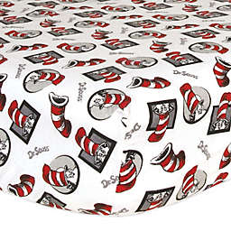 Trend Lab® Dr. Seuss™ Cat in the Hat Print Flannel Fitted Crib Sheet
