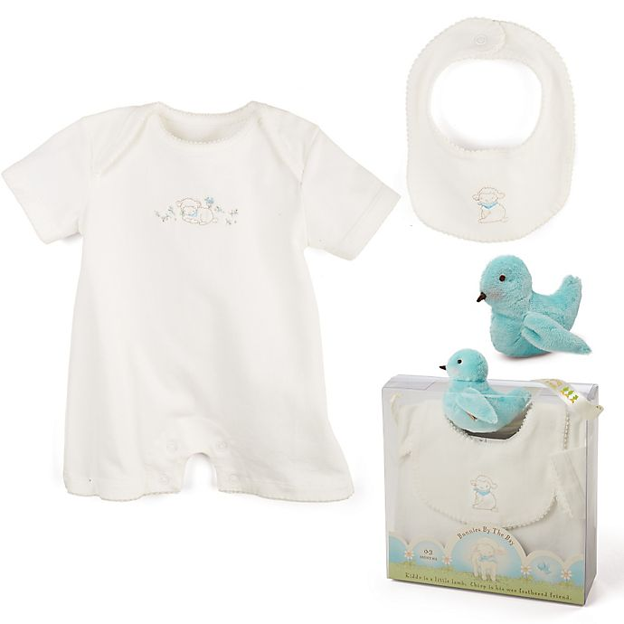Alternate image 1 for Bunnies by the Bay® 3-Piece Kiddo Romper Gift Set