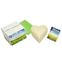 Paw Pods Heart-Shaped Memorial Urn in Natural