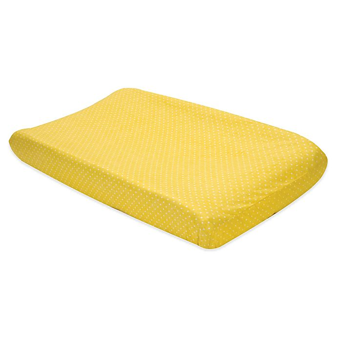 Alternate image 1 for Trend Lab® Yellow Dot Changing Pad Cover
