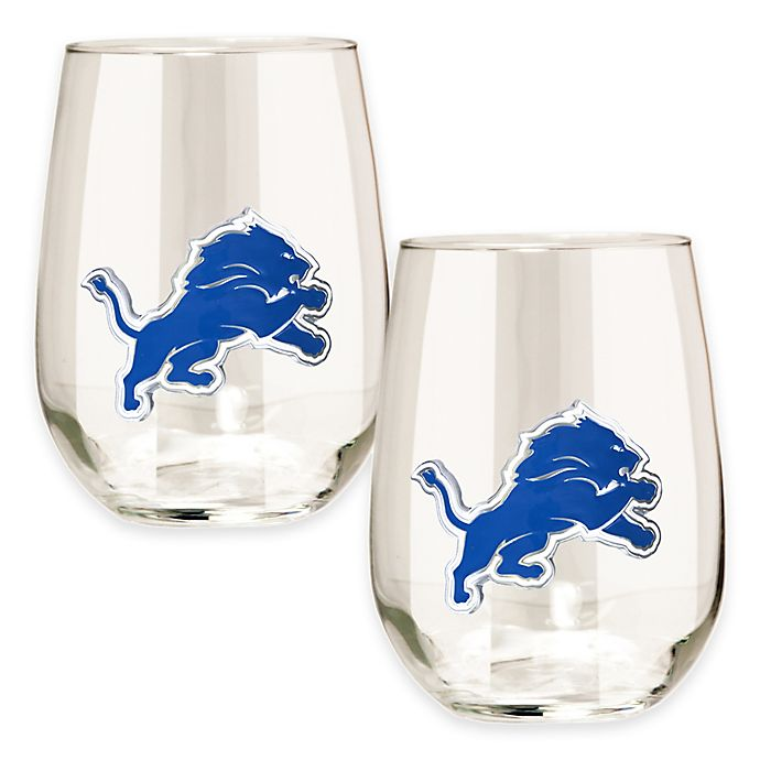 Alternate image 1 for NFL Detroit Lions Stemless Wine Glass (Set of 2)