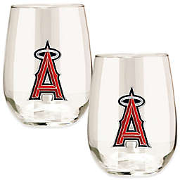 MLB Los Angeles Angels Stemless Wine Glass (Set of 2)