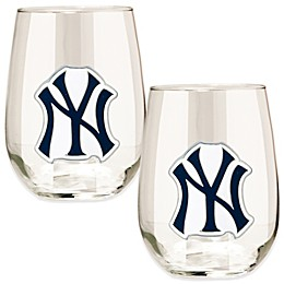 MLB Stemless Wine Glass Collection (Set of 2)
