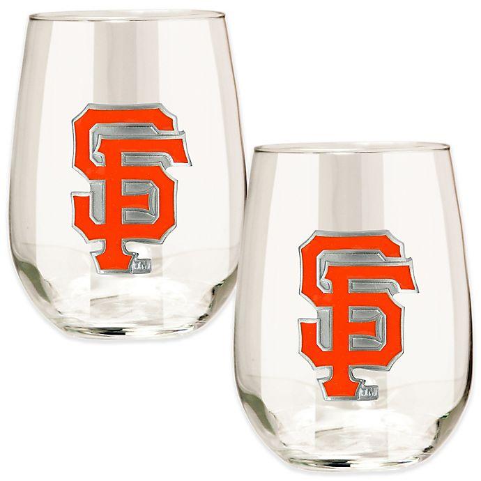 Alternate image 1 for MLB San Francisco Giants Stemless Wine Glass (Set of 2)
