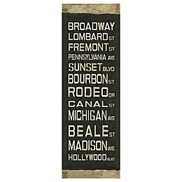 Street Roll Sign Canvas Wall Art