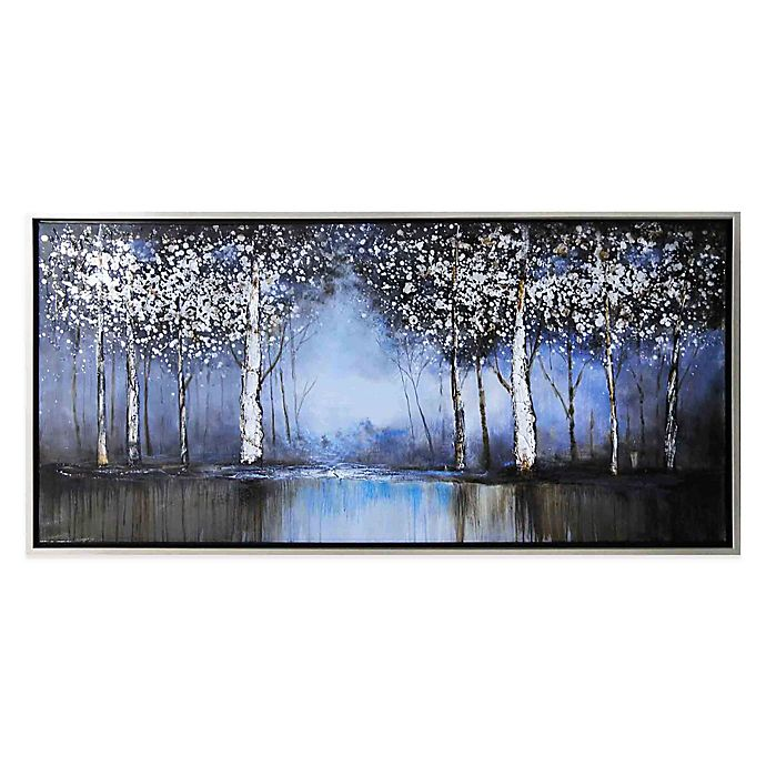 Cobalt Tree Hand Painted Canvas Wall Art View A Larger Version Of This Product Image
