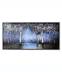 Ren-Wil Cuadro decorativo con diseño de árboles en azul cobalto
