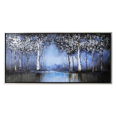 9a3538b7aa Cobalt Tree Hand-Painted Canvas Wall Art
