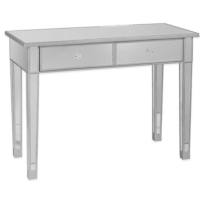 Alternate image 1 for Southern Enterprises Mirage Mirrored 2-Drawer Console Table