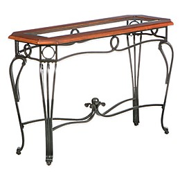 Southern Enterprises Prentice Sofa Table in Dark Cherry