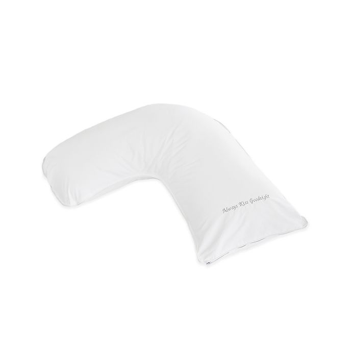 Alternate image 1 for The Pillow Bar® Breakfast in Bed™ Down Alternative Kiss Goodnight Small Side Sleeper Pillow