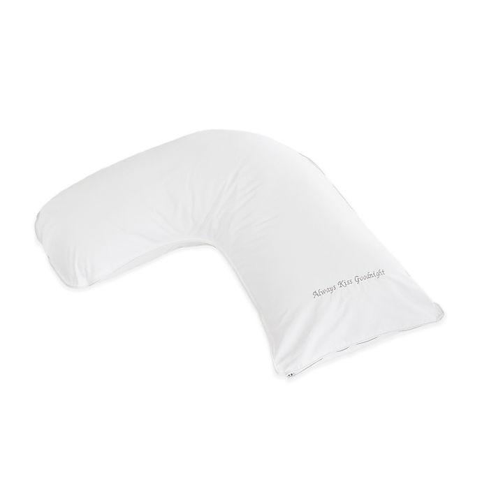 Alternate image 1 for The Pillow Bar® Breakfast in Bed™ Down Alternative Kiss Goodnight Medium Side Sleeper Pillow