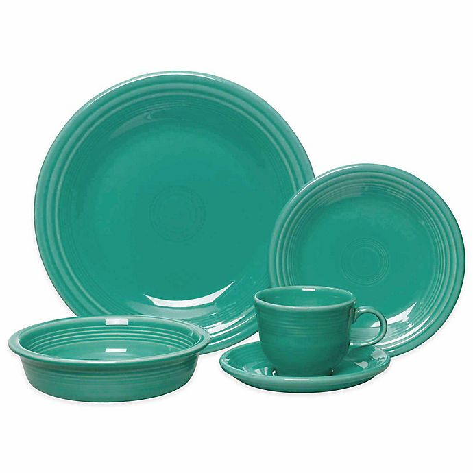Alternate image 1 for Fiesta® 5-Piece Place Setting in Turquoise