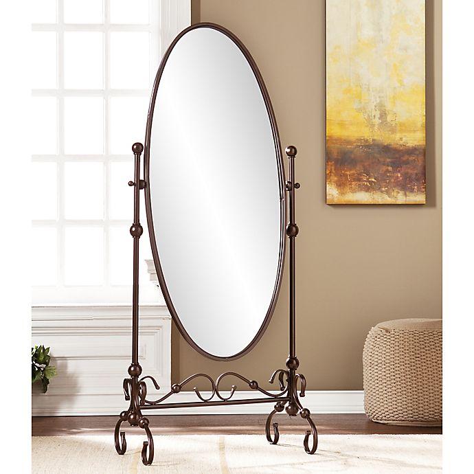 Alternate image 1 for Southern Enterprises Blythe Cheval Floor Mirror in Bronze