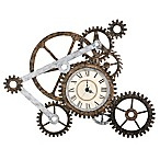 Southern Enterprises Gear Wall Art with Clock