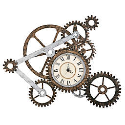 Southern Enterprises Gear Wall Art with Clock