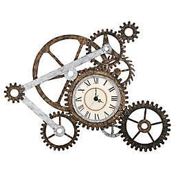 "Southern Enterprises Gear 41"" x 33"" Wall Art with Clock"