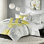 Madison Park Lola Full/Queen Duvet Cover Set in Yellow/Grey