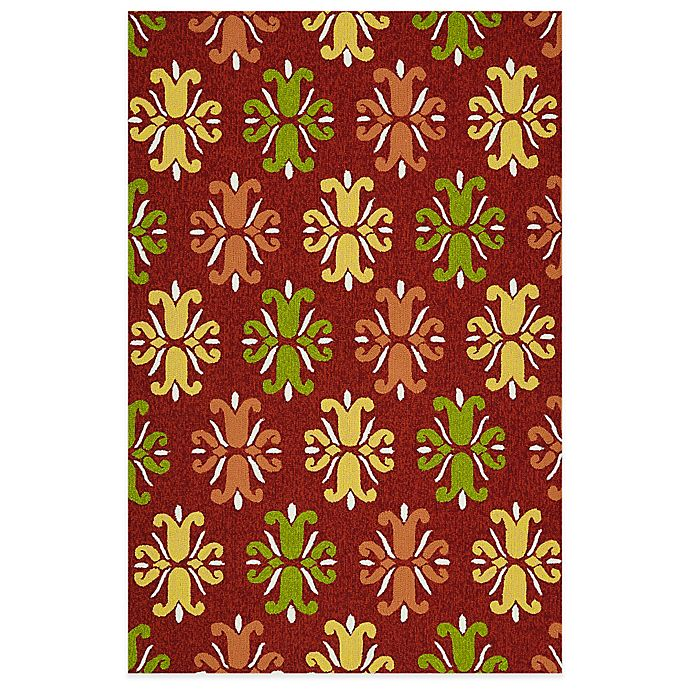 Alternate image 1 for Kaleen Escape Floral 5-Foot x 7-Foot 6-Inch Indoor/Outdoor Area Rug in Red