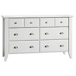 Child Craft™ Relaxed Traditional 6-Drawer Double Dresser in White